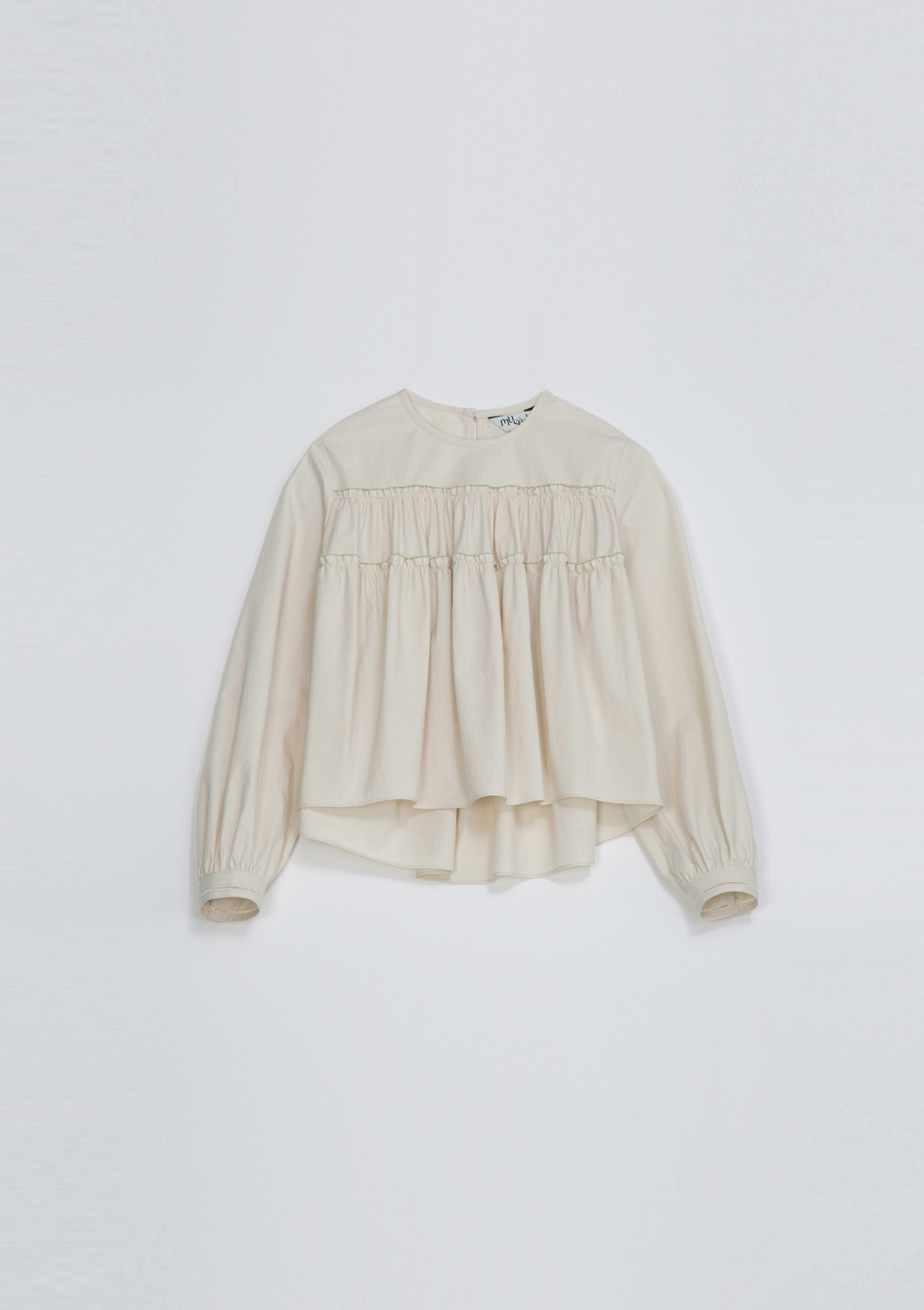 Agreable Tierd Blouse -  Ivory Cotton
