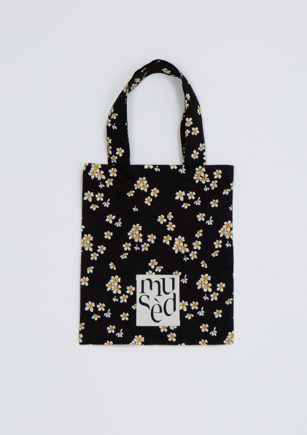 Mused Mini Bag -  Black Floral Artwork