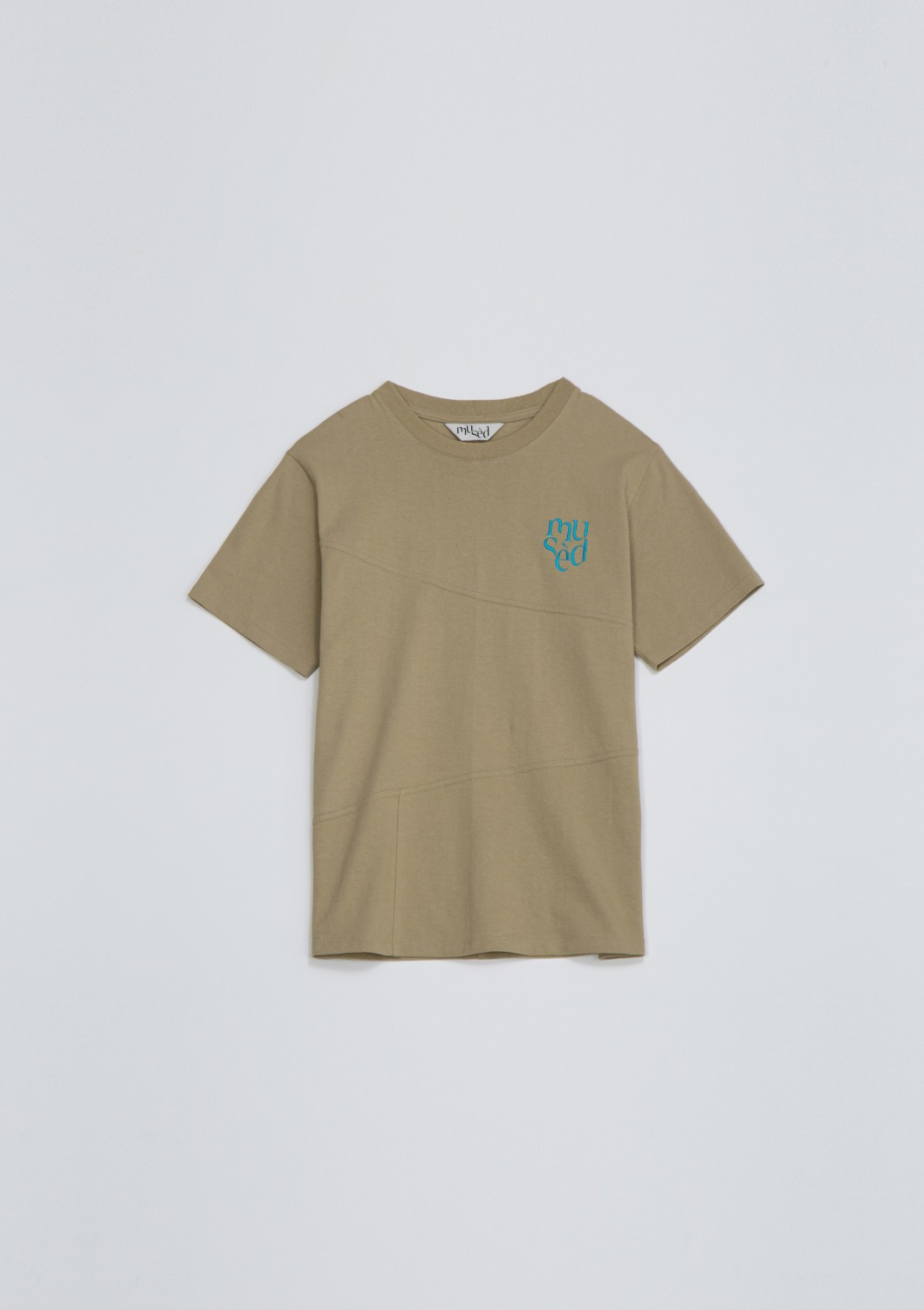 Mused Seamline T-shirt - Brown